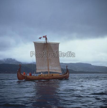 replica viking ships oseberg west norway