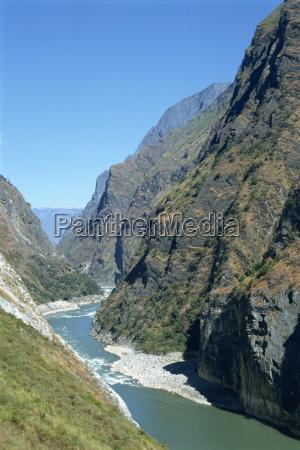 yangzi tiger leaping gorge in yunnan