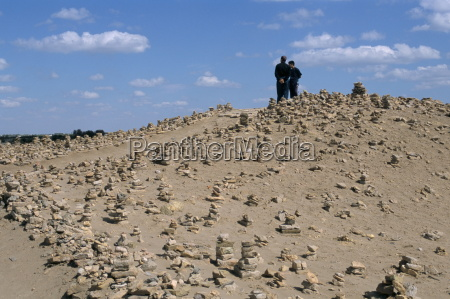 piles of stone for good luck