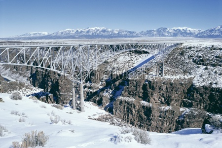 bridge over rio grande gorge near