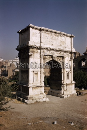 arch of titus commemorating capture of