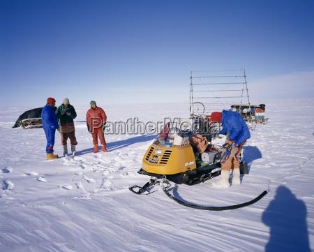 ueber schnee geophysikalisches team der britischen