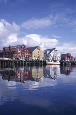 the harbour tromso norway scandinavia europe