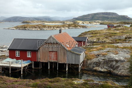 fishing cabin on the island of