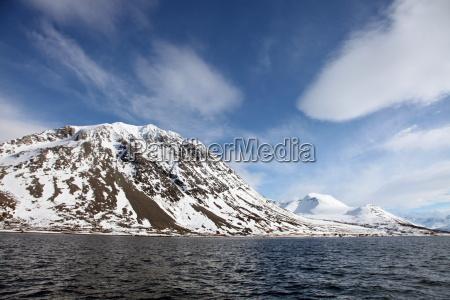 lyngen alps from ullsfjord troms arctic
