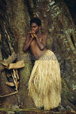 young tanna girl tanna island vanuatu