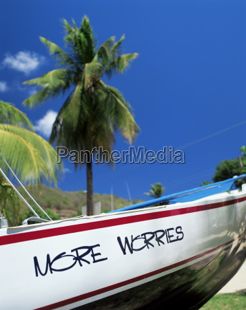 boat on the shore bequia st