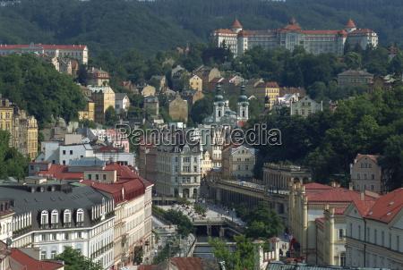 the town of karlovy vary karlsbad