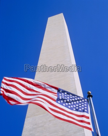memorial and the american flag the