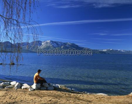view of south beach lake tahoe