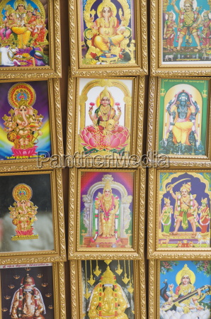 pictures of various hindu gods for