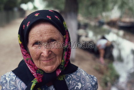 portrait of an old woman in