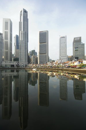 early morning boat quay and the