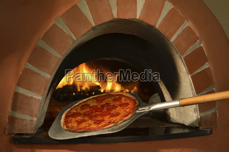 pizza from the wood fired oven