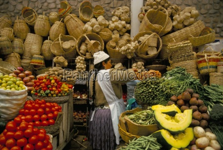 fruit vegetables and baskets for sale