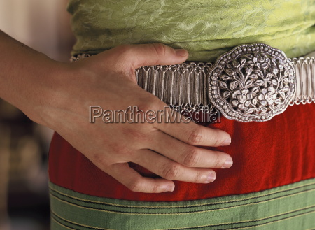 lanna silver belt for holding the