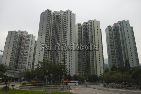huge residential apartment blocks in the