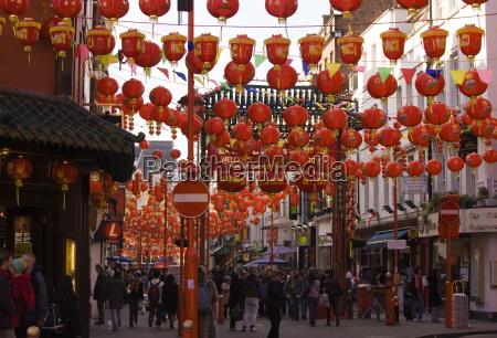 gerrard street chinatown during chinese new