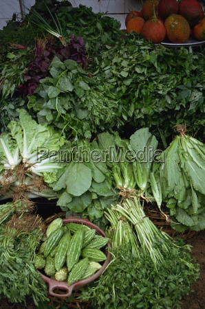 close up of greens for sale