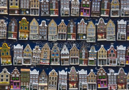 souvenir house shaped refrigerator magnets amsterdam