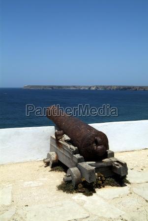fortaleza de sagres old cannon facing
