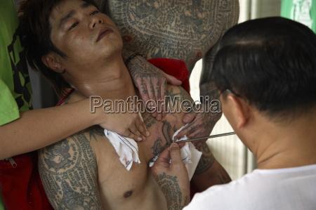 tattoo with thai motifs thailand southeast