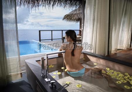 bathtub at escape water villa at