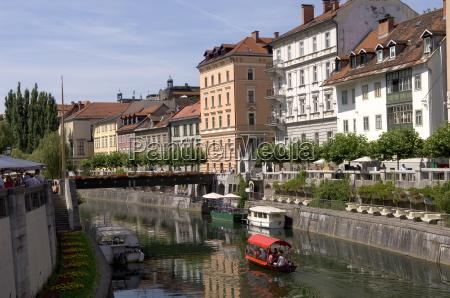 river ljubljanica ljubljana slovenia europe