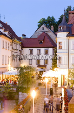 evening dining ljubljana slovenia europe