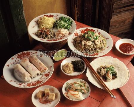 ingredients of fresh spring rolls china