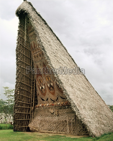 house tamberan or ceremonial building photographed