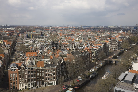 high angle view of the jordaan