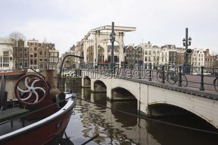magere bridge skinny bridge amstel river
