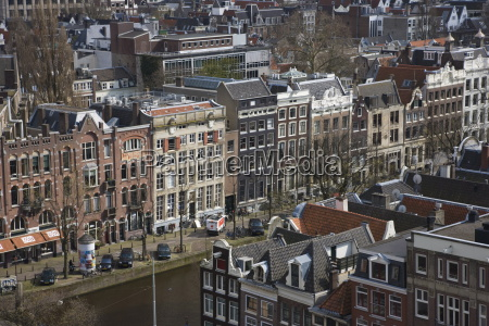 high angle view over the prinsengracht