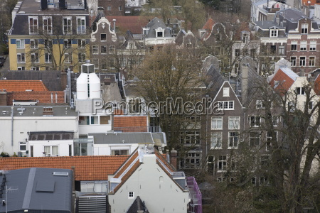 high angle view of amsterdam the