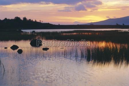 loch ba on isolated rannoch moor