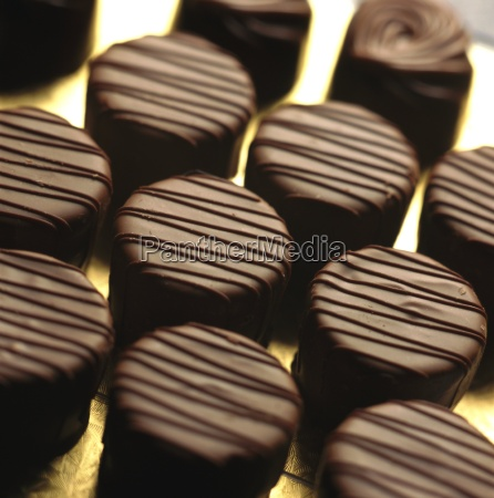 studio shot of chocolates