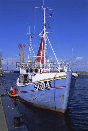 fishing boat island of aero denmark