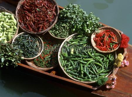 an assortment of chillies a staple