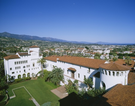 view over courthouse towards the ocean