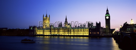 view across the river thames at