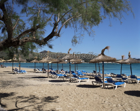 beach port de pollenca majorca balearic