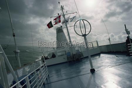 rolling ship in rough seas hurricane