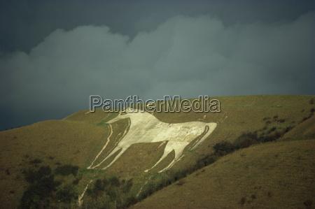 white horse near westbury wiltshire england