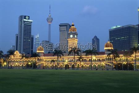 city skyline and the sultan abdul