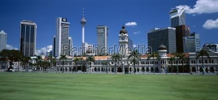 city skyline merdaka square sultan abdul