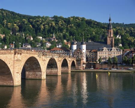neckar river and alte bridge heidelberg