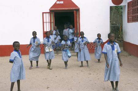 children at gambian school the gambia