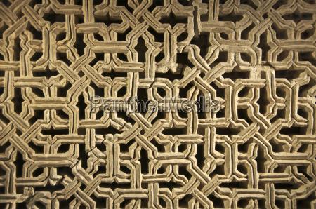 typical plaster geometric decor the aljaferia