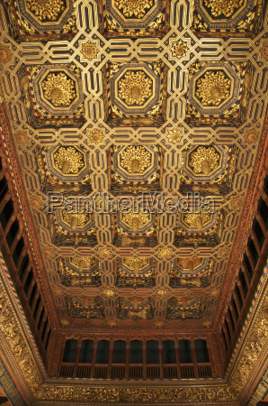 the throne room caisson ceiling typical